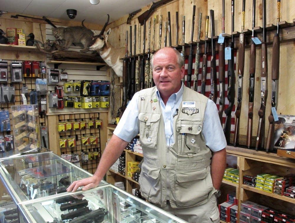 Gun shop owner