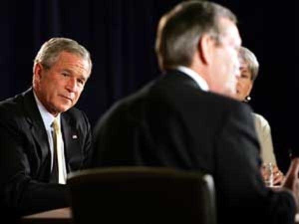 Bush talks about health care
