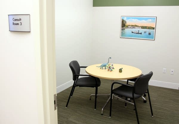 Consulting room at cannabis dispensary