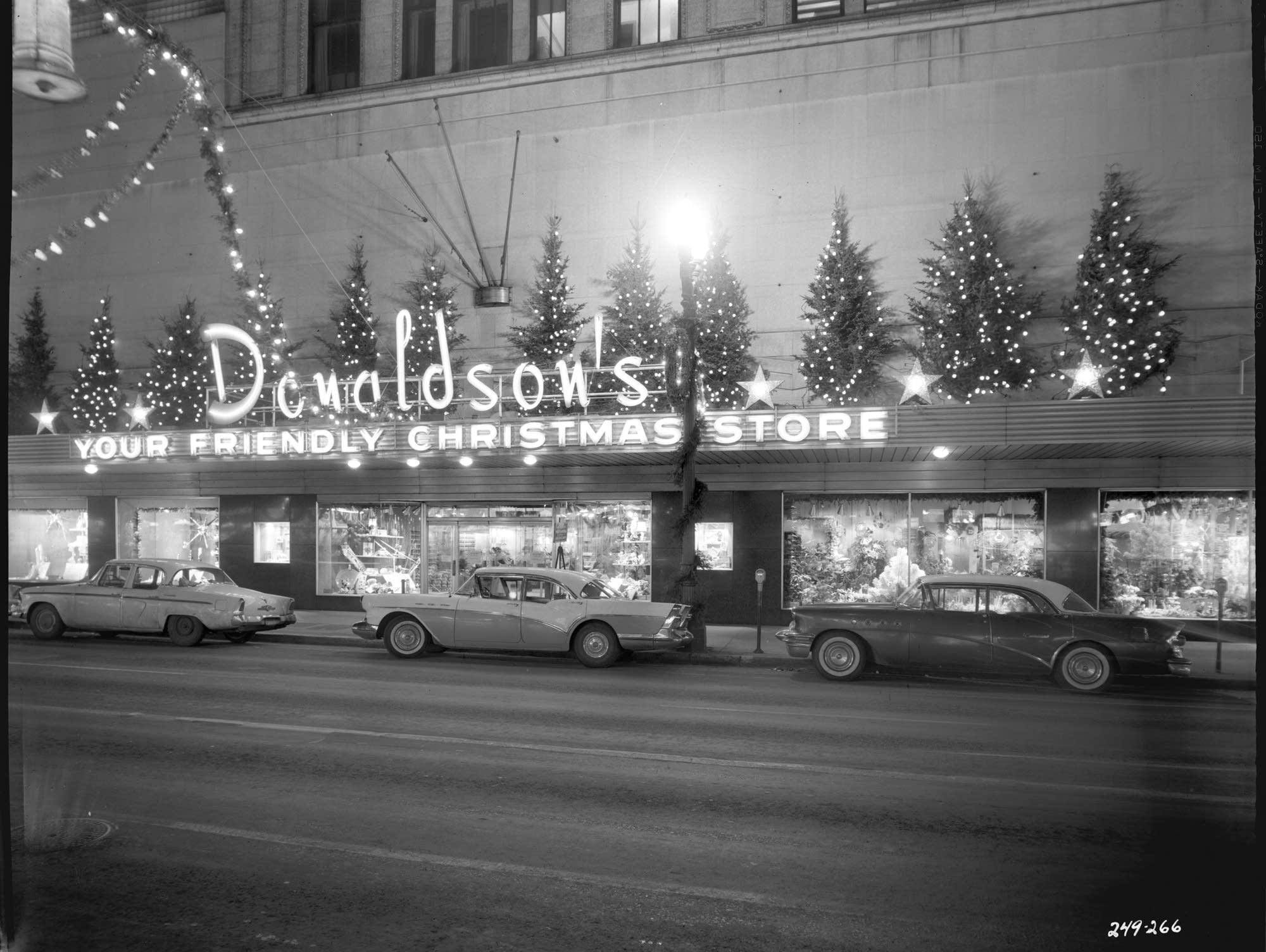 Donaldson's Christmas display in 1957.