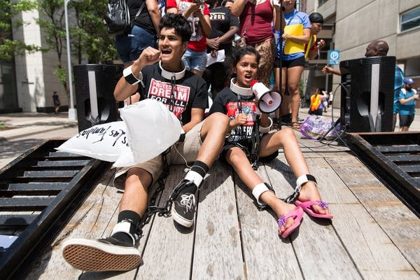 James Gutierrez, 15, and his sister Lilah, 8.
