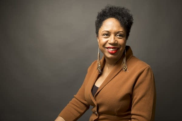 Sharon Smith-Akinsanya sits for a portrait