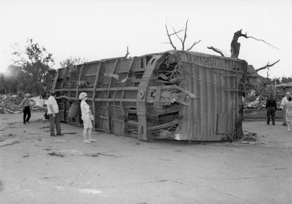 A boxcar was thrown more than 100-yards.