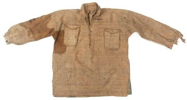 An old Confederate uniform shift.