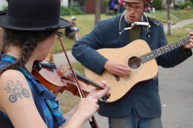 Musicians perform during Grand Old Day