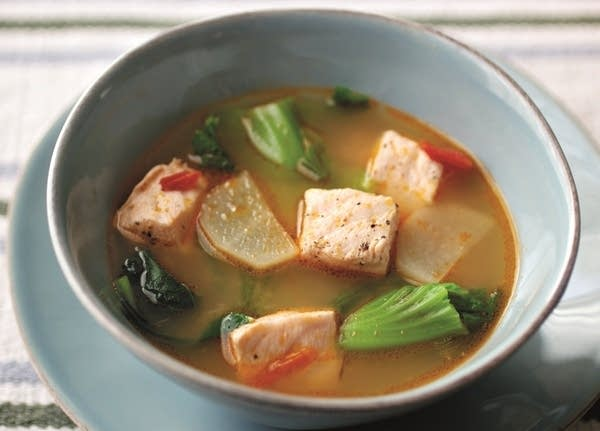 Salmon and Miso Sour Soup