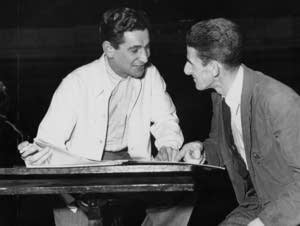 Leonard Bernstein with cellist Yves Chardon in Minneapolis.