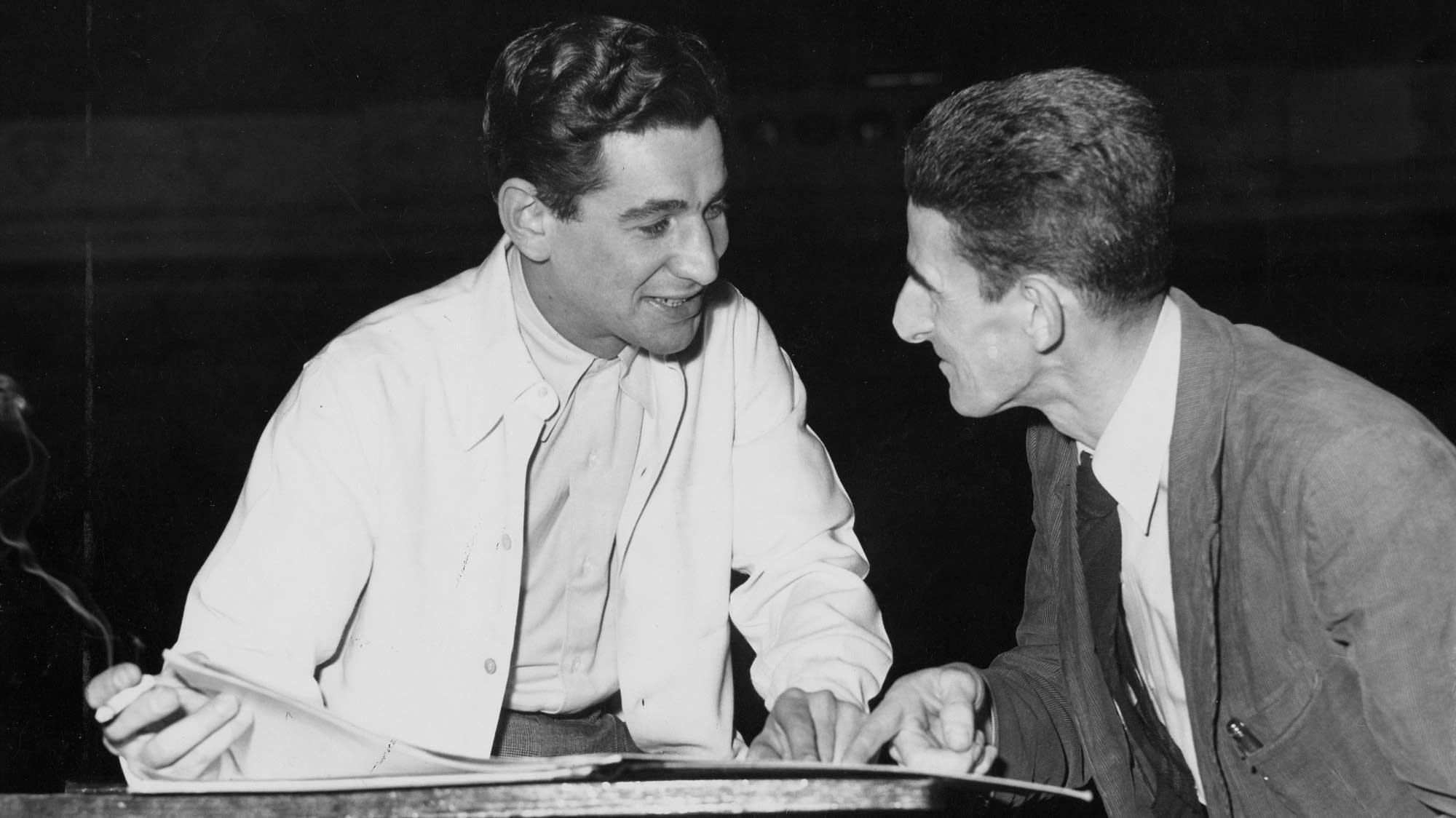 Leonard Bernstein with cellist Yves Chardon in Minneapolis.