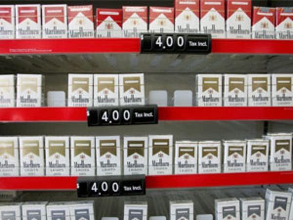 Packs of cigarettes