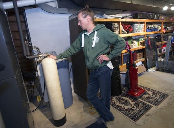 Joby Randrup installed a granular activated carbon filter in his basement.