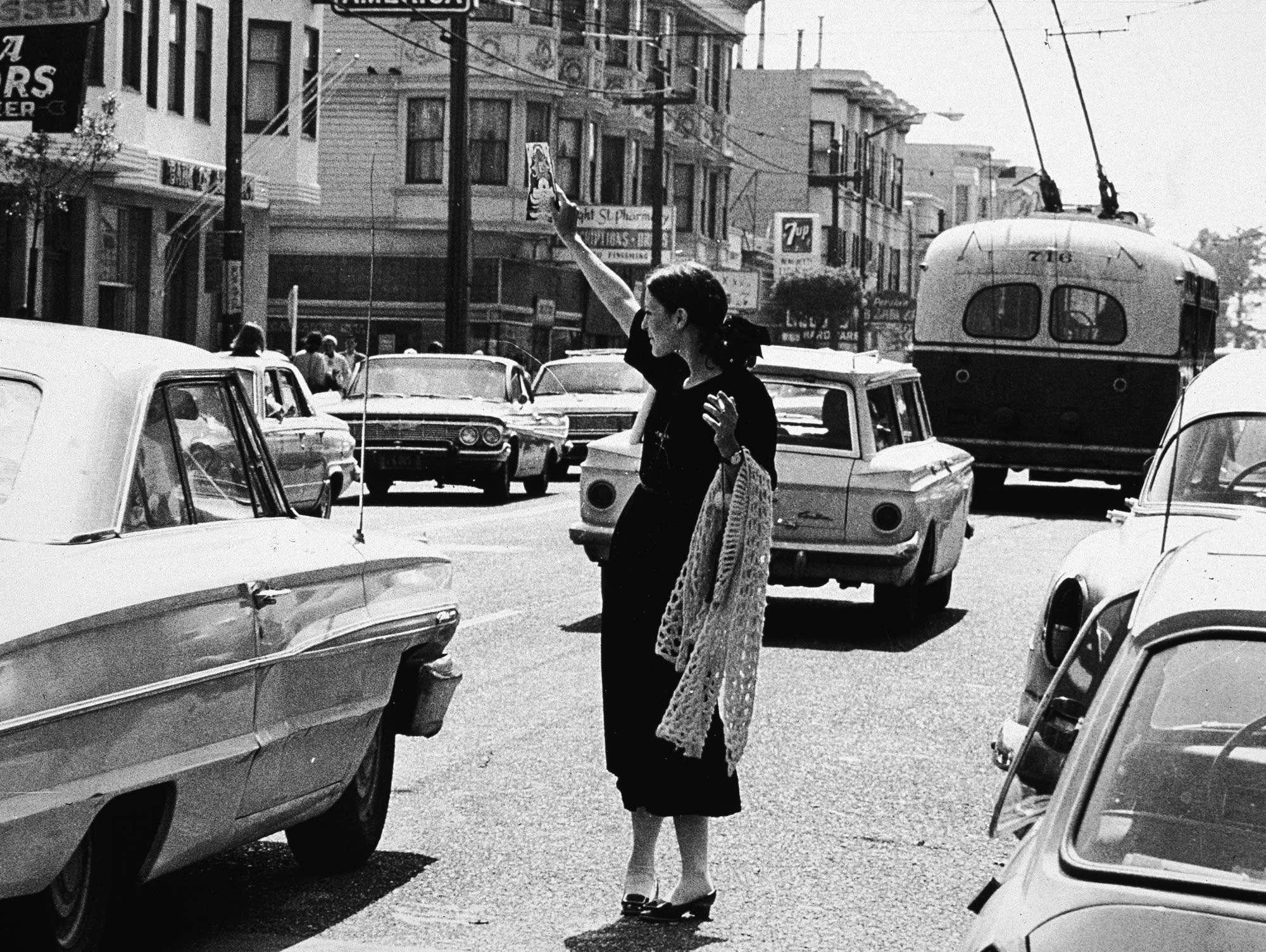 A hippie in San Francisco, 1967