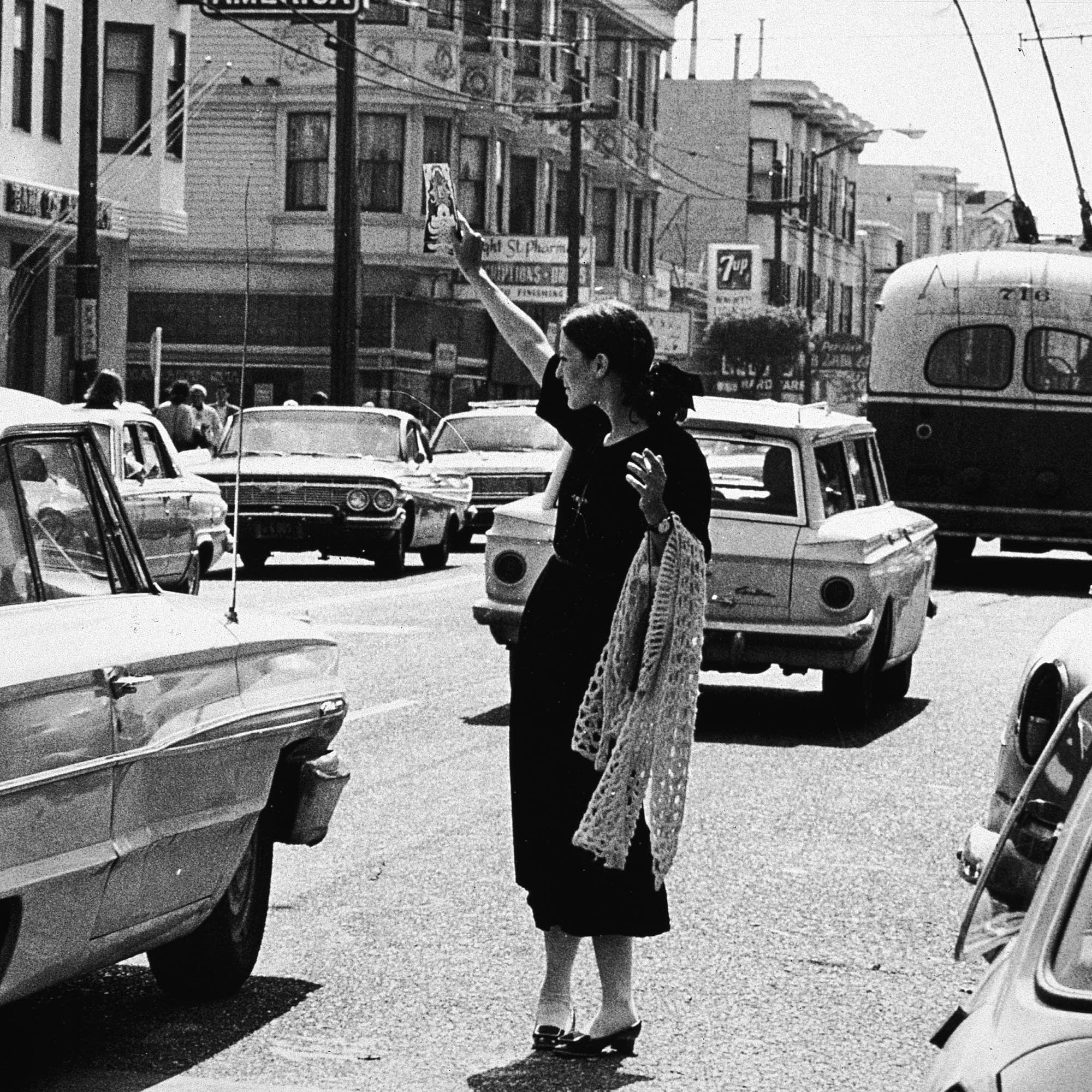 A hippie in San Francisco, 1967