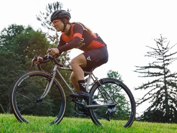 BrittLee Bowman competes during a recent cyclecross race