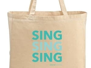 Choral Stream tote bag