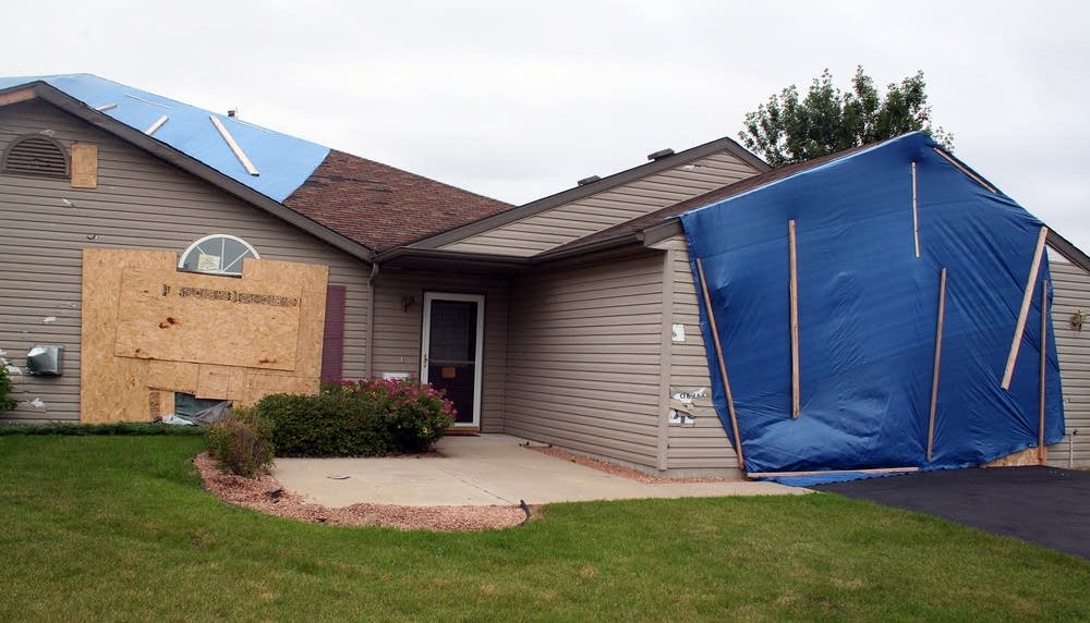 Damaged home in Rochester