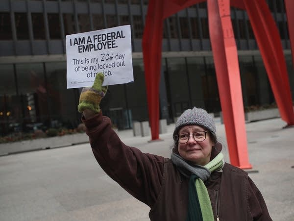Government Workers Protest The Shutdown In Chicago