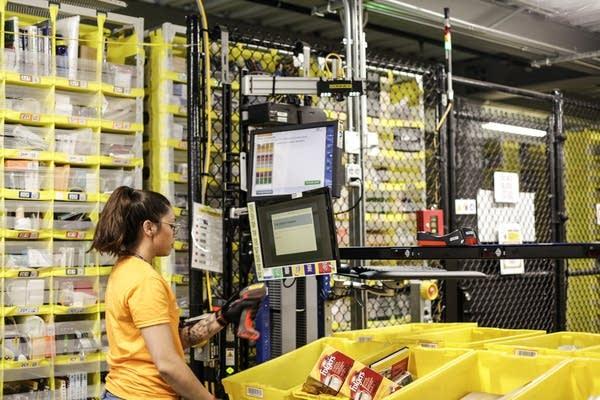 Inside the Amazon Fulfillment facility in Shakopee