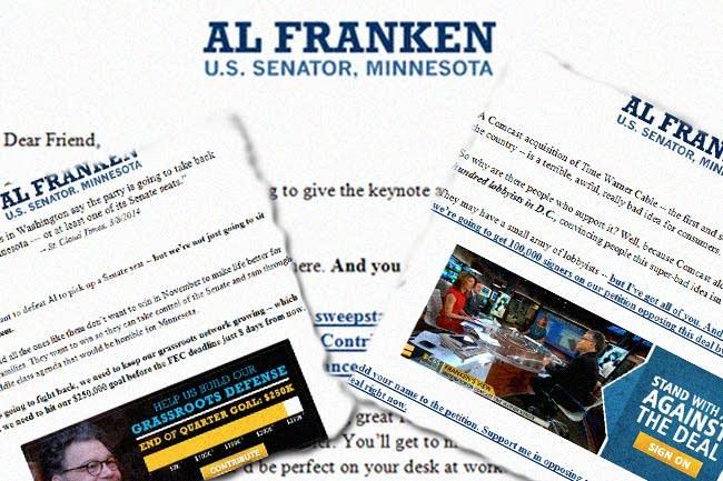 Franken fundraising