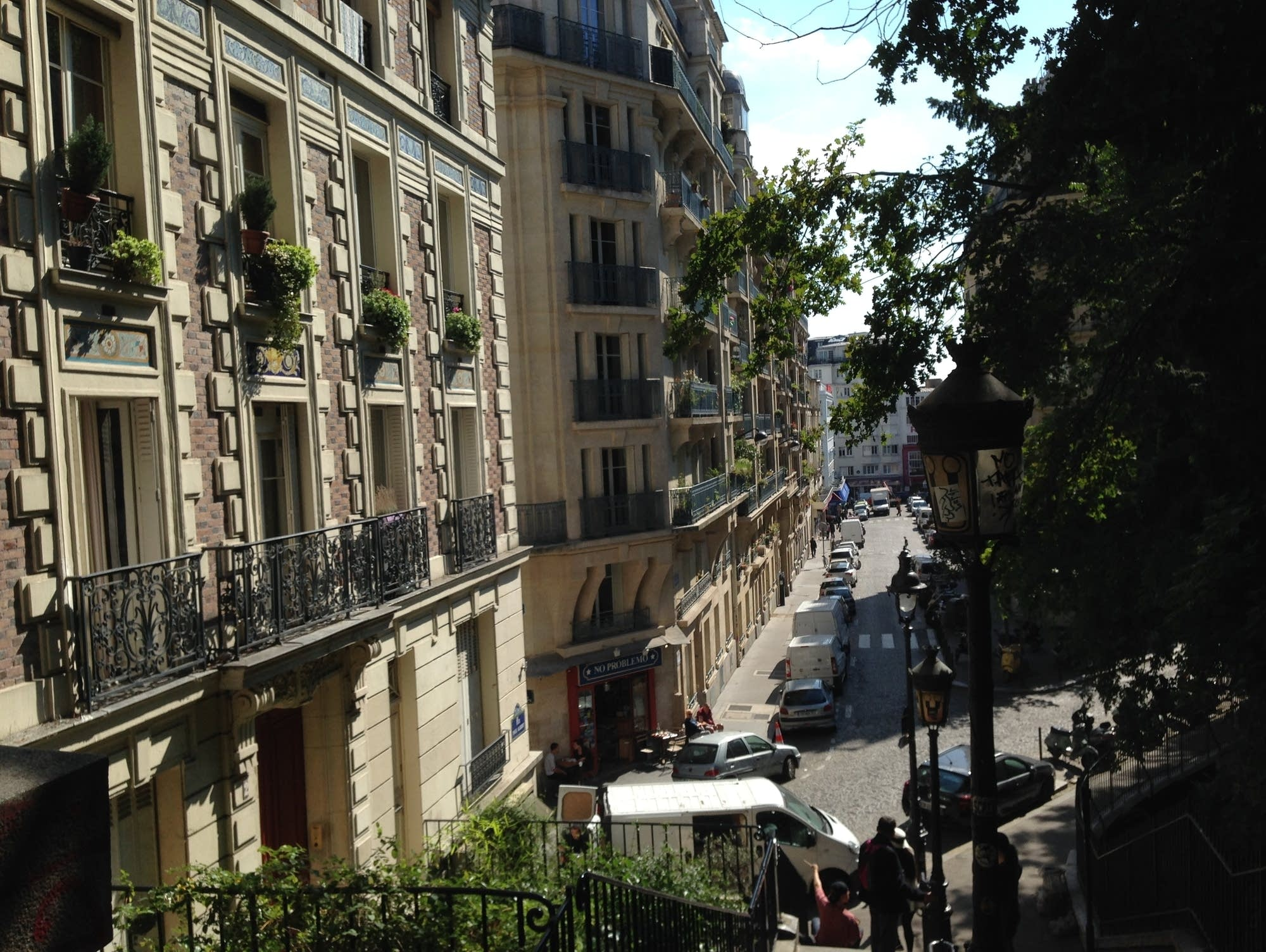 Apartments at the base of the Montmartre hill