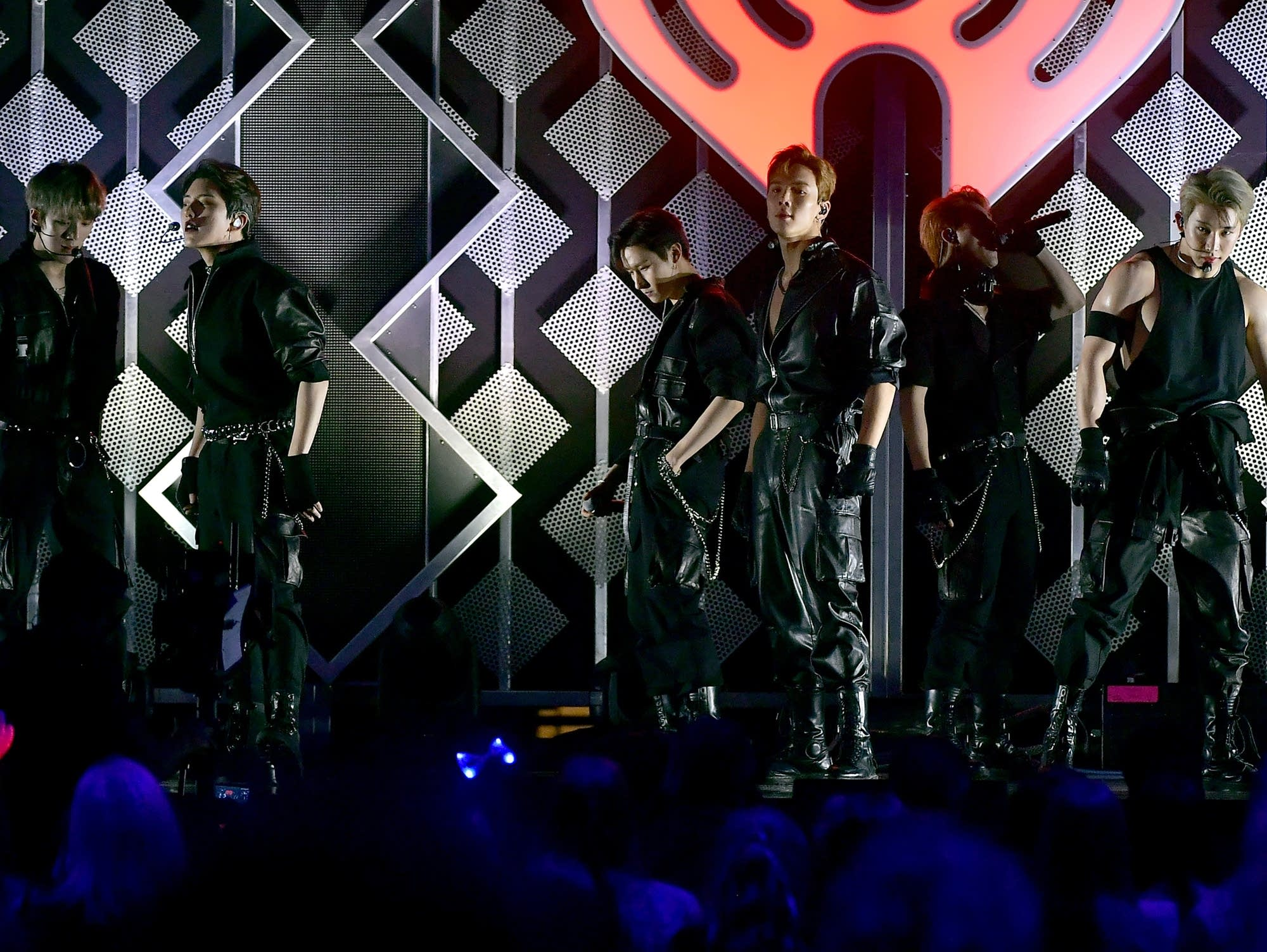 Monsta X performing at Z100's Jingle Ball 2018