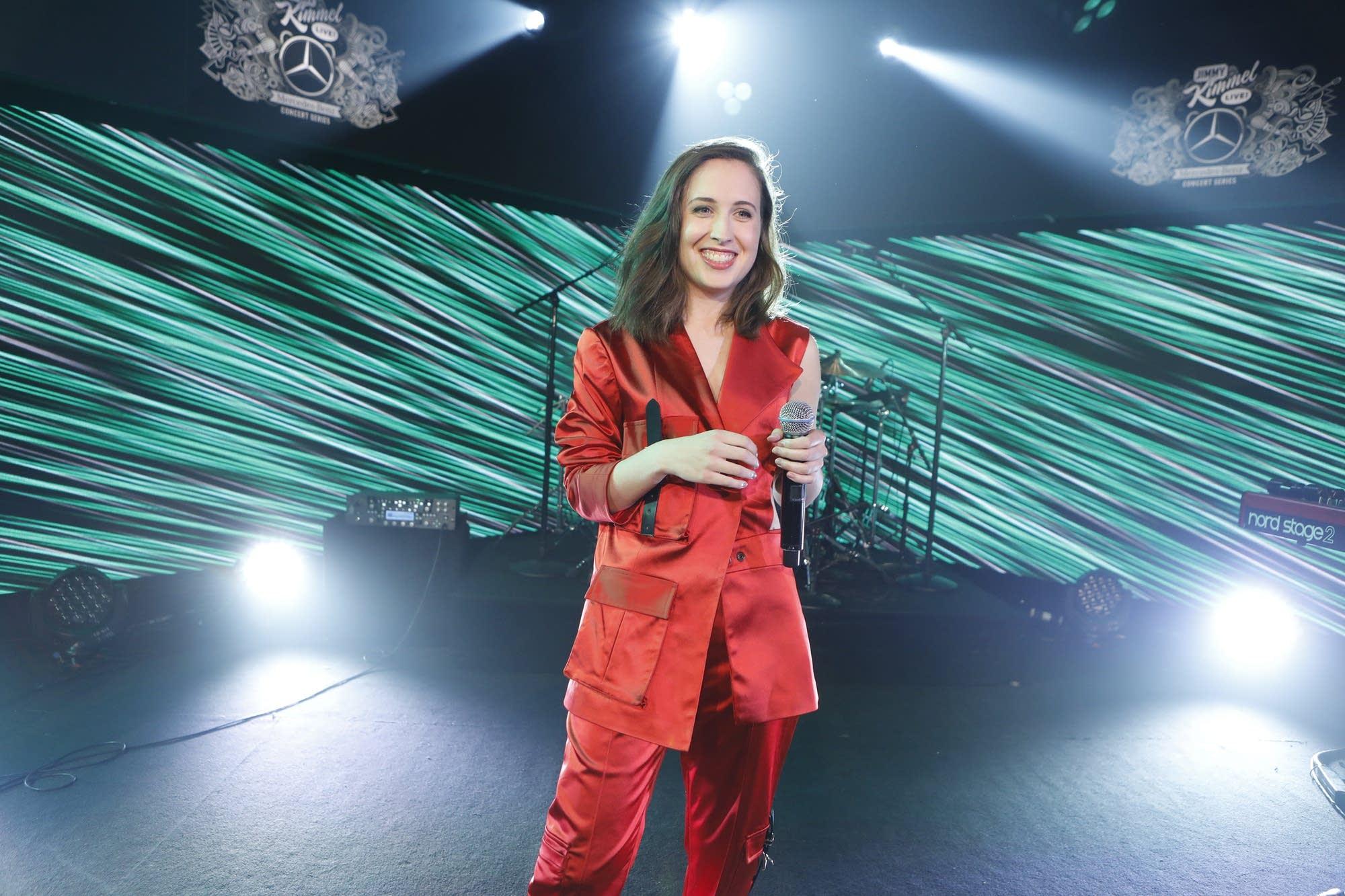 Alice Merton performs on 'Jimmy Kimmel Live' on ABC