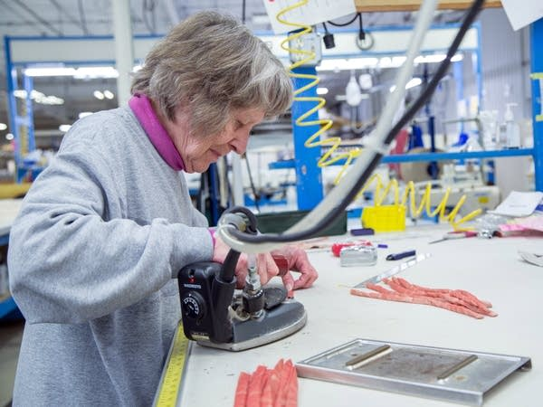 Nina Anderson, 85, is still working full time at Anderson Fabrics.