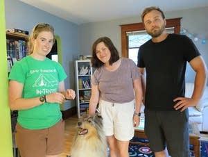 From left, Jess Landgraf, Katrina Nichols and Thomas Hvizdos.