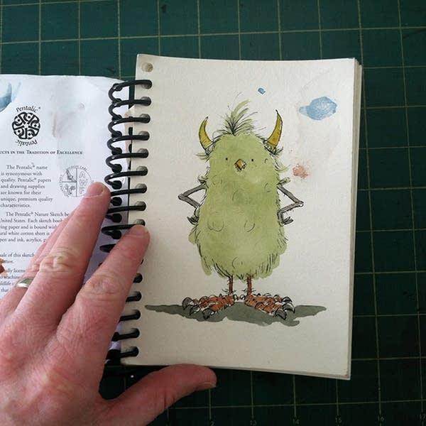 A monster sketch by Matt Phelan
