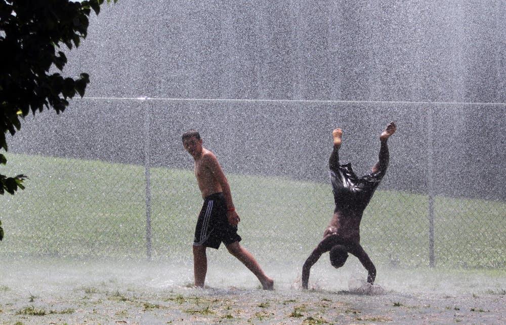 Getting wet