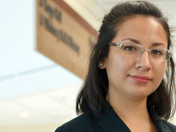Estefania Navarro is working on her 2nd associate's degree.