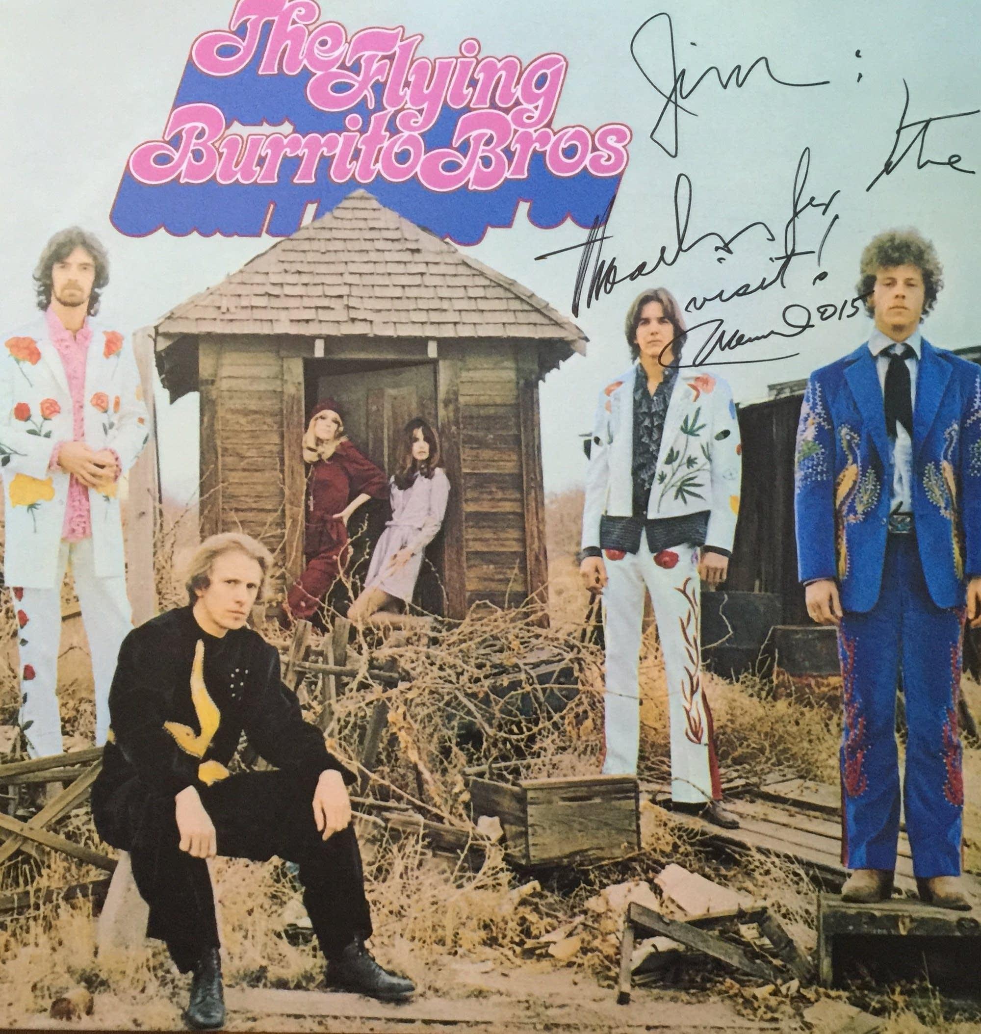Manuel Cuevas autograph on Flying Burrito Bros LP