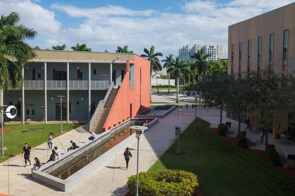 A Florida university plans to reopen with a mandatory screening app, fewer people in classrooms, and a pilot study of virus-sniffing dogs