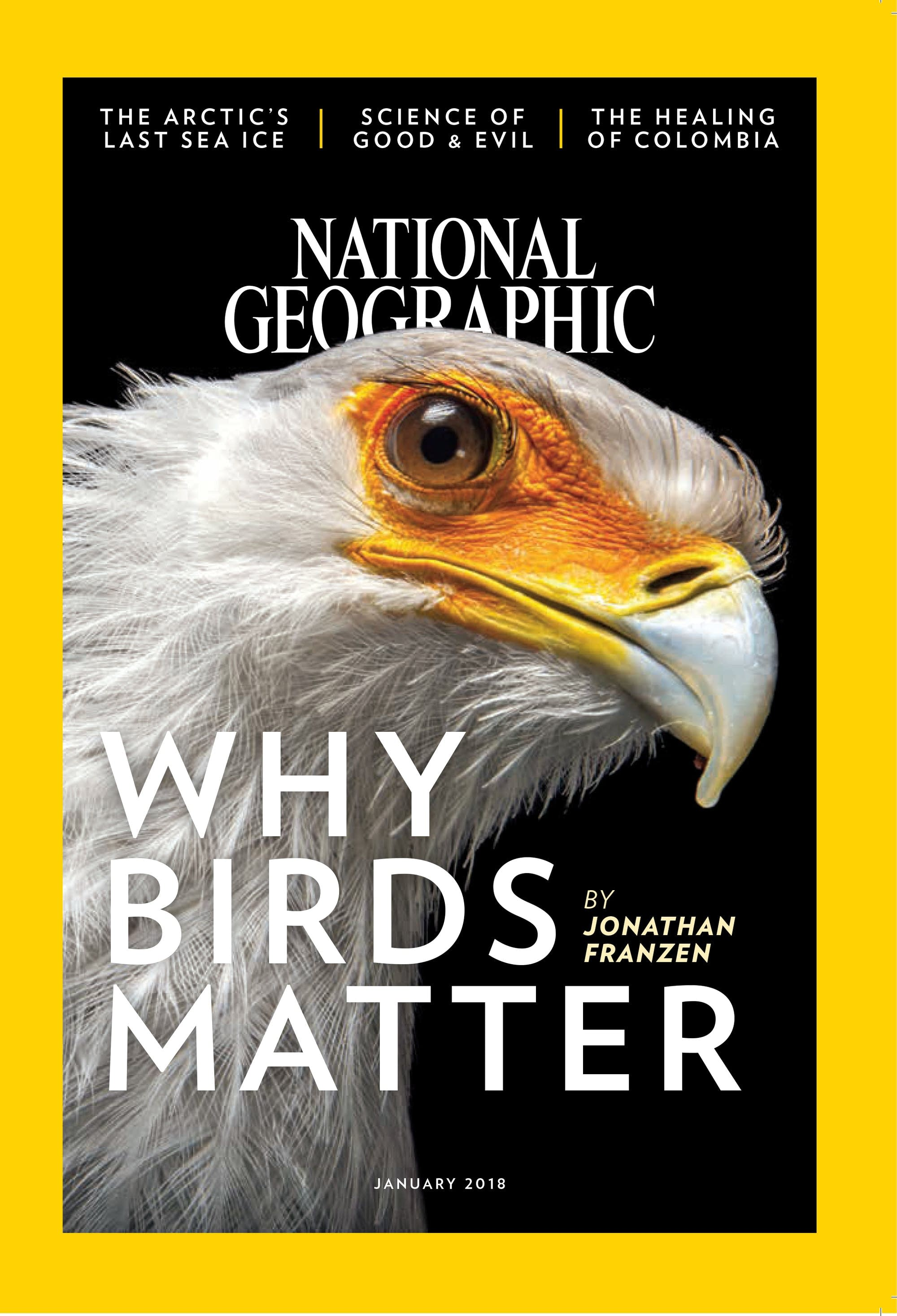 The January 2018 issue of National Geographic