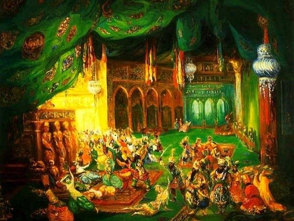 Scheherazade, painting by Leon Bakst