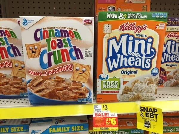Cereals in the dollar store
