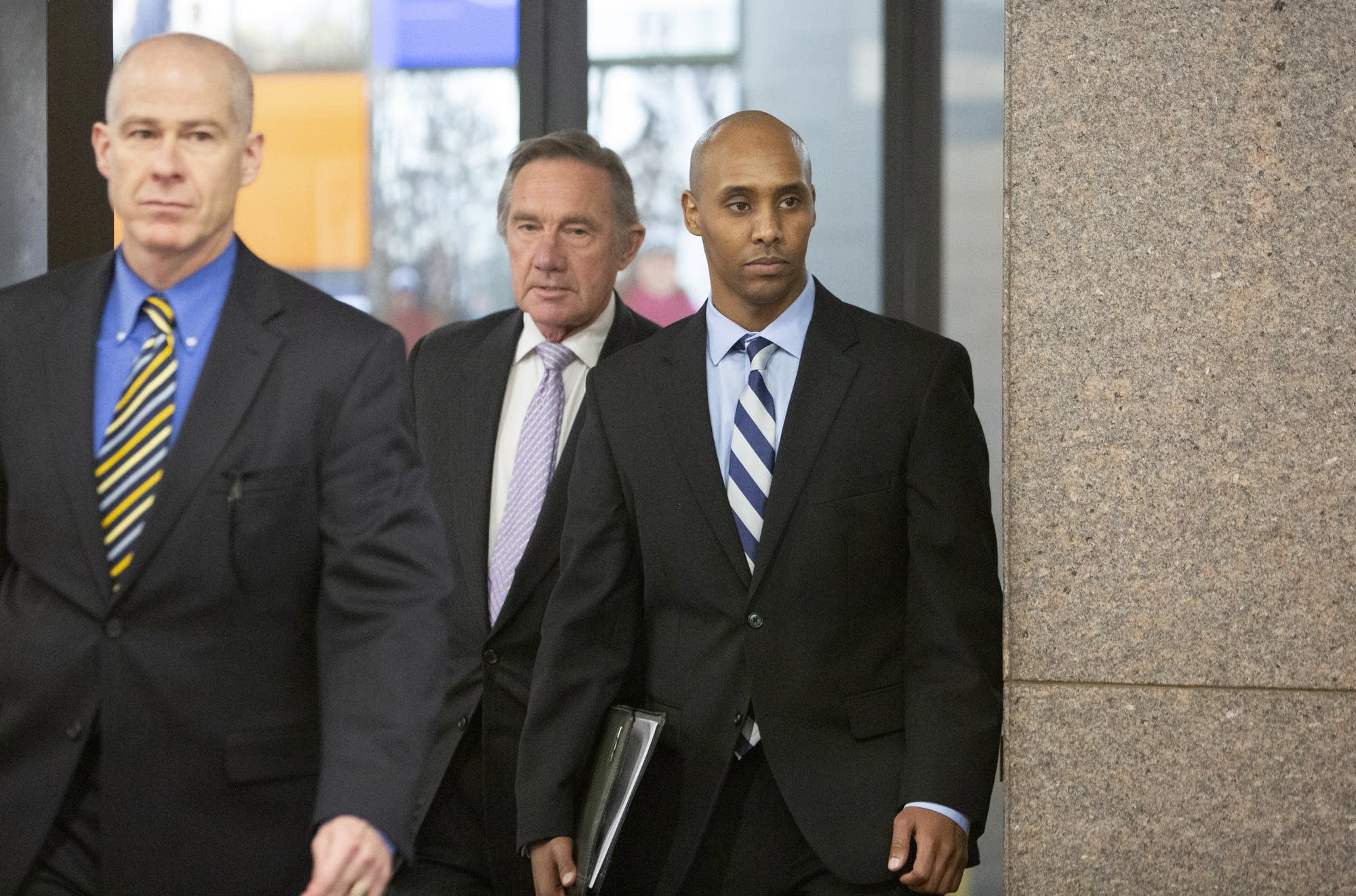 Former Minneapolis police officer Mohamed Noor leaves court Thursday.