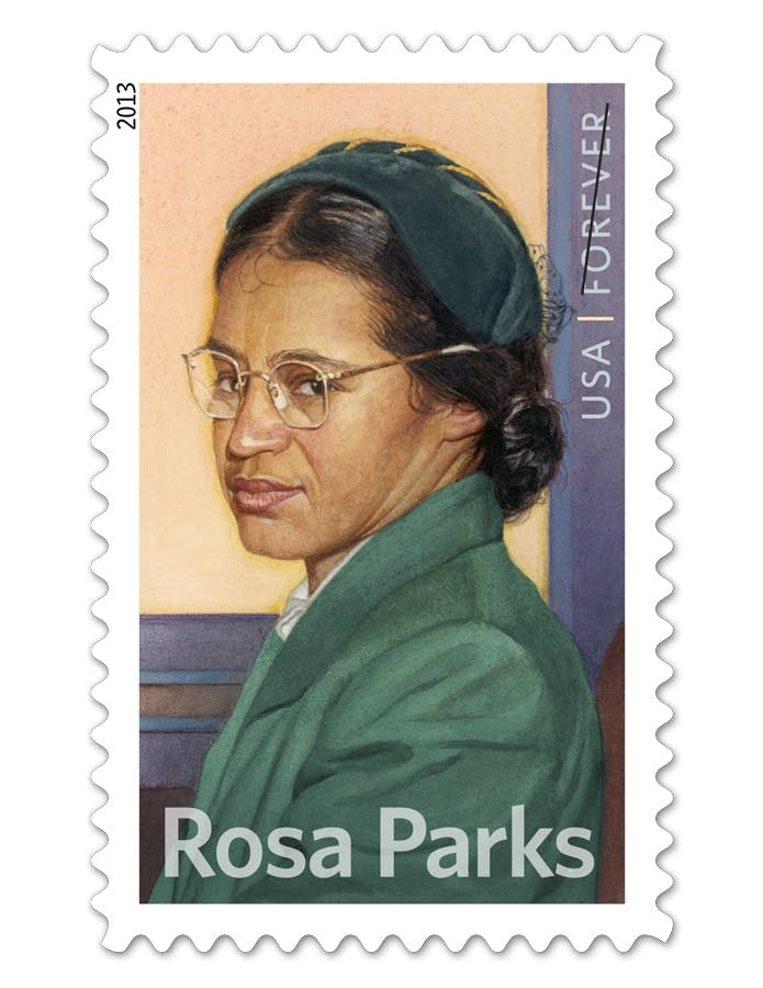 Rosa Parks' commemorative stamp
