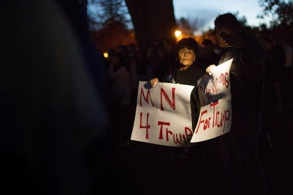 Juanita and Mike Kulhanek support Donald Trump.