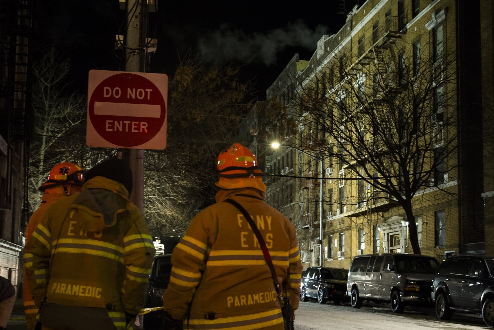 At least 12 dead in Bronx apartment building fire.
