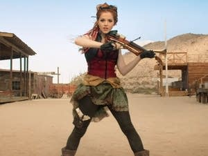 Lindsey Stirling in her 'Roundtable Rival' video