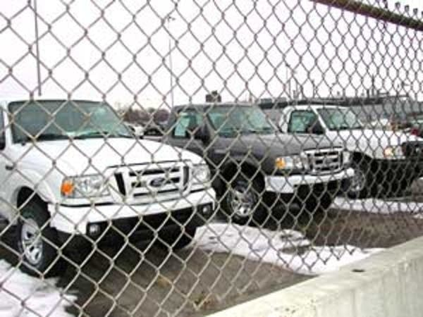Ranger trucks on the lot at the St. Paul Ford plan