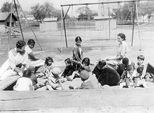 Playground workers