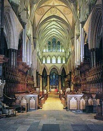 1876 Henry Willis organ at the Cathedral, Salisbury, England, UK