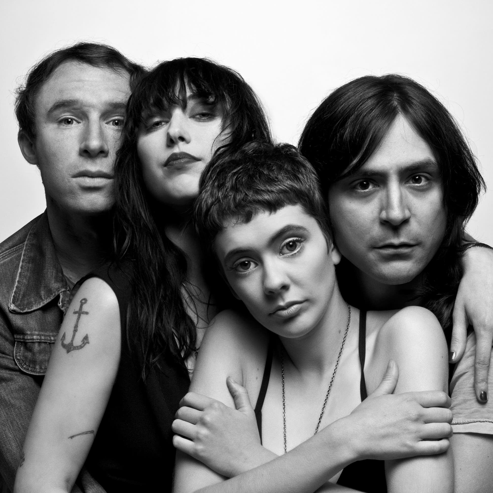 Those Darlins (Jessi Zazu, center) in 2013.