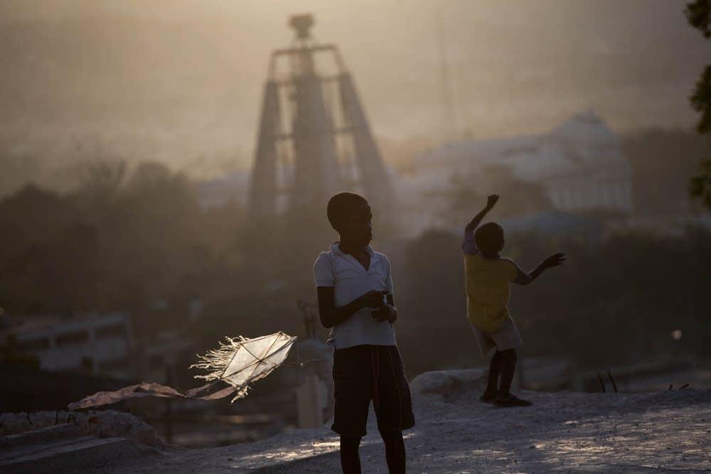 Children in Port-au-Prince