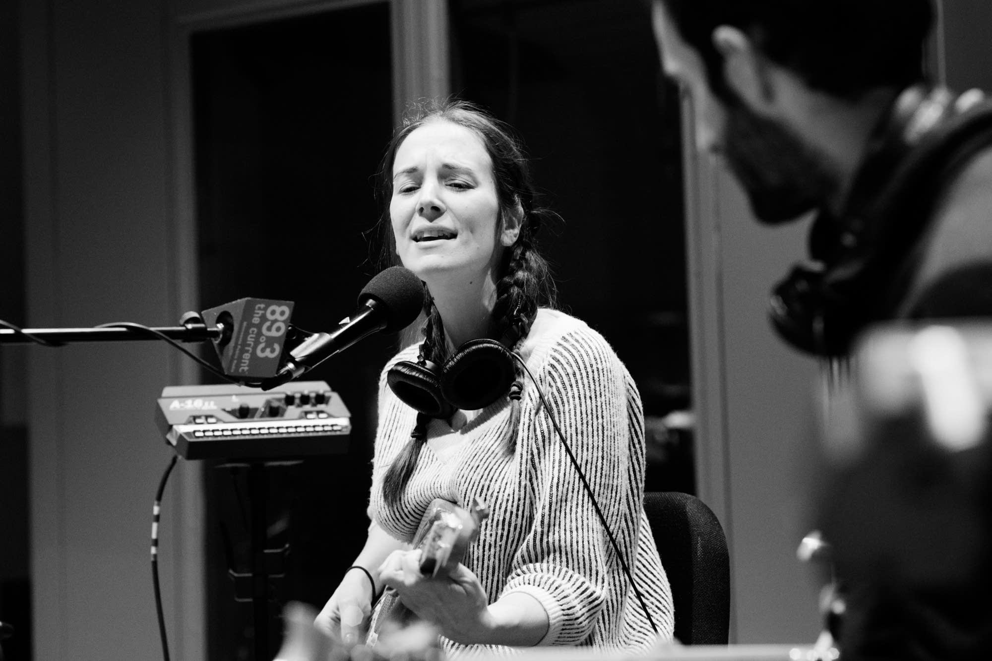 Margaret Glaspy in The Current studio