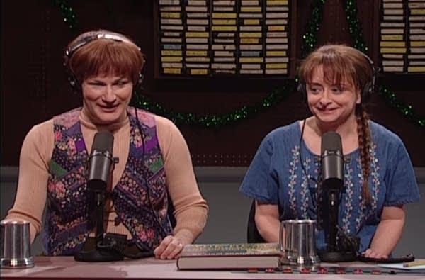 "Scene from Saturday Night Live's NPR parody, ""The Delicious Dish"""