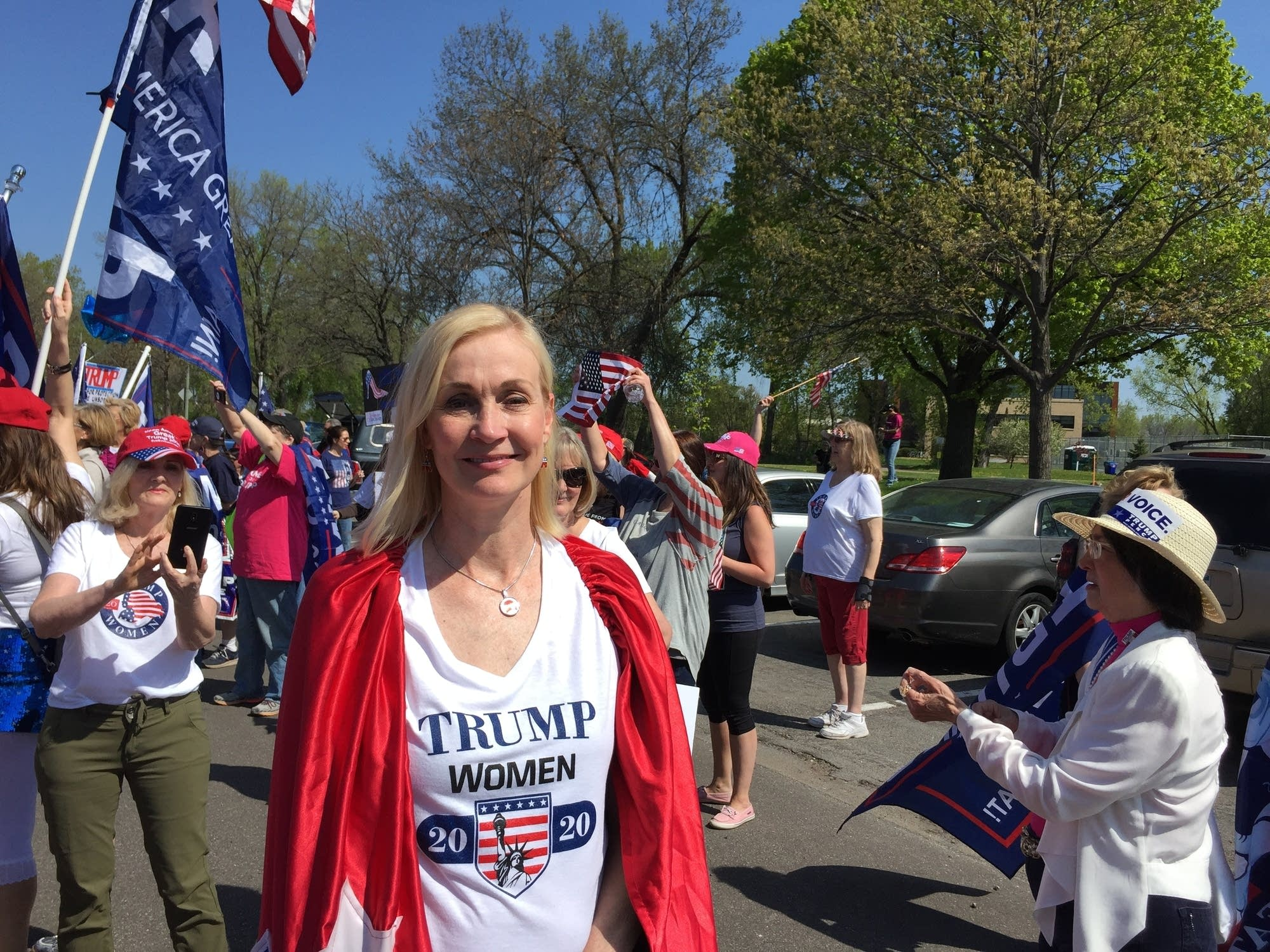 Mary Susan Timion, organizer of a pro-Trump march on Tuesday