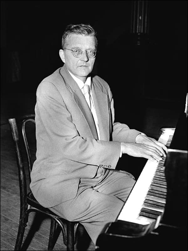 Shostakovich at the piano