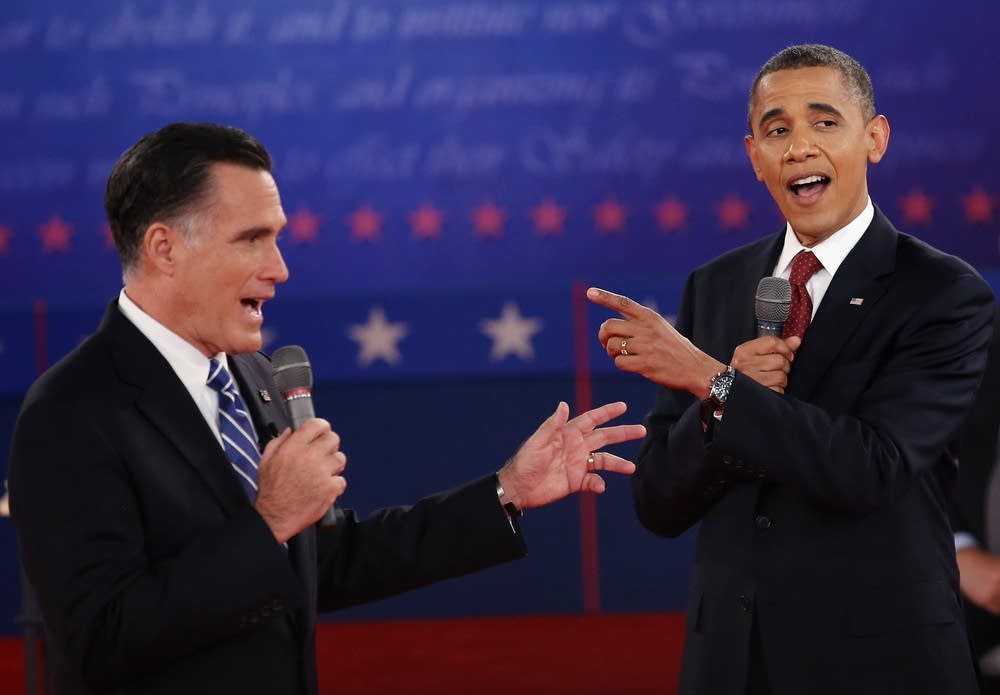 Obama and Romney debate at Hofstra